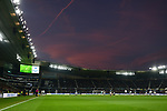 General view of match action as the sun sets during the championship league match between Derby and Millwall at Pride Park Stadium, Derby. Picture date 23rd December 2017. Picture credit should read: Joe Perch/Sportimage