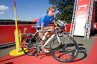 26 JUL 2008 - TREDEGAR, UK - Andrea Whitcombe - British Elite Triathlon Championships. (PHOTO (C) NIGEL FARROW)