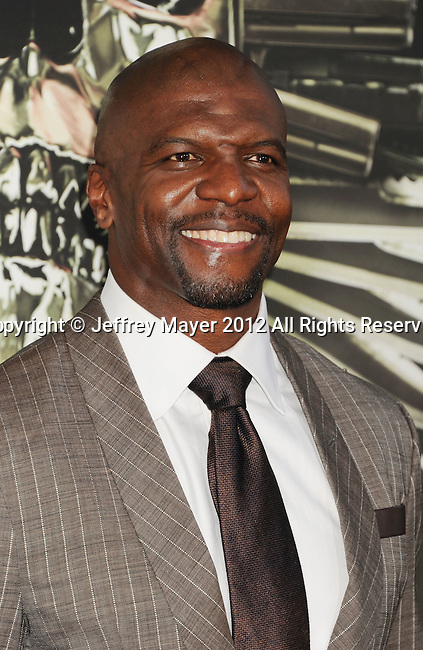 HOLLYWOOD, CA - AUGUST 15: Terry Crews  arrives at the 'The Expendables 2' - Los Angeles Premiere at Grauman's Chinese Theatre on August 15, 2012 in Hollywood, California.