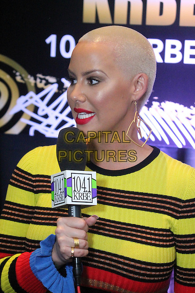 LOS ANGELES, CA - FEBRUARY 9: Amber Rose at Westwood One Backstage at the 2017 Grammy's Day 1 at the Staple's Center in Los Angeles, California on February 9, 2017. <br /> CAP/MPI/DE<br /> &copy;DE/MPI/Capital Pictures