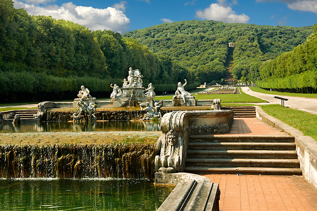 Royal Park of the Palace of Caserta - Ceres Fountain. The Kings of Naples Royal Palace of Caserta, Italy. A UNESCO World Heritage Site