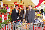 Jim Garvey, Garveys Supervalu, Brendan Kennelly, Kerry's Eye and Kevin McCarthy, Garveys, announcing details of a shopping competition in sponsored by Garveys Supervalu and Kerry's Eye.