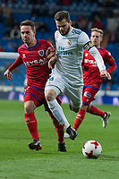 Real Madrid Nacho Fernandez and CD Numancia Pere Milla during King's Cup match between Real Madrid and CD Numancia at Santiago Bernabeu Stadium in Madrid, Spain. January 10, 2018. (ALTERPHOTOS/Borja B.Hojas) /NortePhoto.com NORTEPHOTOMEXICO