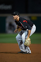 Lake Elsinore Storm first baseman Brad Zunica (40) during a California League game against the Rancho Cucamonga Quakes at LoanMart Field on May 19, 2018 in Rancho Cucamonga, California. Lake Elsinore defeated Rancho Cucamonga 10-7. (Zachary Lucy/Four Seam Images)