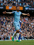 Gabriel Jesus of Manchester City celebrates scoring the second goal during the English Premier League match at the Etihad Stadium, Manchester. Picture date: May 13th 2017. Pic credit should read: Simon Bellis/Sportimage