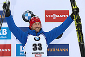 8th December 2017, Biathlon Centre, Hochfilzen, Austria; IBU Biathlon World Cup; Jakov Fak (SLO) on the podium