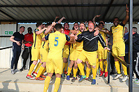 Hornchurch celebrate promotion during Witham Town vs AFC Hornchurch, Bostik League Division 1 North Football at Spa Road on 14th April 2018