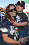 Kourtney and 3-year-old Broxton during Wolf Pack Night at the Reno Rodeo on Wednesday, June 22, 2016.