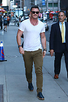 NEW YORK, NY - OCTOBER 10: Luke Evans at The  Late Show With Stephen Colbert on October 10, 2017 in New York City. <br /> CAP/MPI99<br /> &copy;MPI99/Capital Pictures
