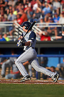 Brooklyn Cyclones first baseman Dale Burdick (8) at bat during a game against the Batavia Muckdogs on July 4, 2016 at Dwyer Stadium in Batavia, New York.  Brooklyn defeated Batavia 5-1.  (Mike Janes/Four Seam Images)