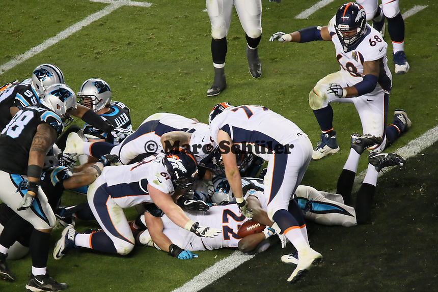 Touchdown RB CJ Anderson (Broncos) zum 22:10  - Super Bowl 50: Carolina Panthers vs. Denver Broncos