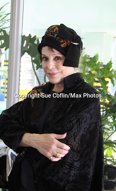 "Days Of Our Lives Louise Sorel at Promo shoot for the annual Broadway Extravaganza in honor of Jane Elissa's Candidacy for Leukemia & Lymphoma Society Woman of the Year and for Hats for Health on April 23, 2012 at the Marriott Marquis Hotel, New York City, New York. In the shoot are Days of Our Live Louise Sorel ""Vivian"", Broadway Bonnie and Clyde Melissa VanDer Schyff and Clay Elder, Dale Badway (Creator Fame-Wall) and host for the upcoming event, Corey Brunish (producer of Bonnie & Clyde) and Billy Freda, Missy Modell (Photo by Sue Coflin/Max Photos)"