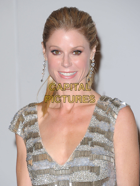 Julie Bowen.The Inaugural Art and Film Gala held at LACMA in Los Angeles, California, USA..November 5th, 2011   .headshot portrait silver gold grey gray sleeveless .CAP/RKE/DVS.©DVS/RockinExposures/Capital Pictures.