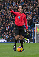 Brighton &amp; Hove Albion &amp; Wolverhampton Wanderers match referee Anthony Tayor<br /> <br /> Photographer David Horton/CameraSport<br /> <br /> The Premier League - Brighton and Hove Albion v Wolverhampton Wanderers - Saturday 27th October 2018 - The Amex Stadium - Brighton<br /> <br /> World Copyright &copy; 2018 CameraSport. All rights reserved. 43 Linden Ave. Countesthorpe. Leicester. England. LE8 5PG - Tel: +44 (0) 116 277 4147 - admin@camerasport.com - www.camerasport.com