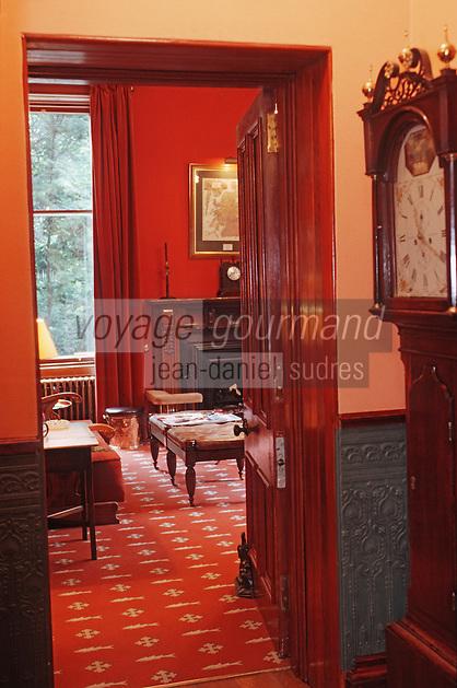 """Europe/Royaume-Uni/Ecosse/Moray/Spayside/ Dufftown: Détail intérieur Salon de """"Linn House"""""""