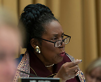 United States Representative Sheila Jackson Lee (a Democrat from Texas) questions Acting Attorney General Matthew G. Whitaker during a hearing of the House Judiciary Committee on Capitol Hill in Washington, DC, February 8, 2019. Credit: Chris Kleponis / CNP/AdMedia