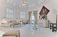 BNPS.co.uk (01202 558833)<br /> Pic: Jackson-Stops/BNPS<br /> <br /> Reception room. <br /> <br /> A historic tower home that has hosted royalty, politicians and rock stars has become available to rent for almost £6,000 a month.<br /> <br /> Ruxley Tower was originally built by The Rt Hon Lord Thomas Foley in 1870 for his wife Evelyne.  Queen Victoria is said to have once taken tea in the drawing room.<br /> <br /> In 2009 the quirky property was rented out to Rolling Stones guitarist Ronnie Wood for two years after his split from wife Jo. The 80ft tower is available to rent through agents Jackson-Stops.