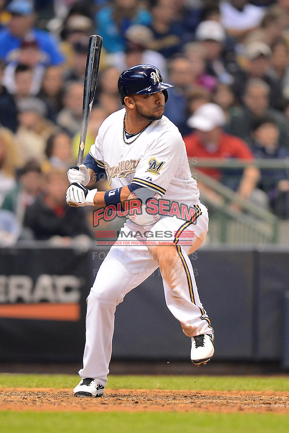 Milwaukee Brewers shortstop Alex Gonzalez #11 during a game against the Minnesota Twins at Miller Park on May 27, 2013 in Milwaukee, Wisconsin.  Minnesota defeated Milwaukee 6-3.  (Mike Janes/Four Seam Images)