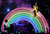 LOS ANGELES- MARCH 14: Chris Martin and Kacey Musgraves appear on the 2019 iHeartRadio Music Awards at the Microsoft Theater on March 14, 2019 in Los Angeles, California. (Photo by Frank Micelotta/Fox/PictureGroup)