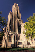 AJ3201, university, cathedral, Pittsburgh, college, Pennsylvania, The Cathedral of Learning at the University of Pittsburgh in Pittsburgh in the state of Pennsylvania.