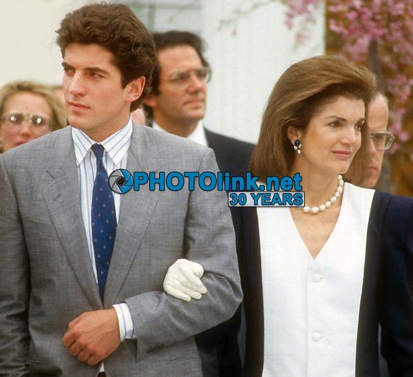 John Jr. and Jackie Kennedy 1986<br /> Photo By John Barrett/PHOTOlink.net