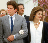John Jr. and Jackie Kennedy 1986<br /> Photo By John Barrett/PHOTOlink.net