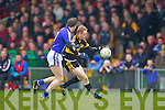 Colm Cooper of Dr Crokes and Barry Duggan of Cratloe in the AIB Munster Senior Football Final played last Sunday in The Gaelic Grounds, Limerick.