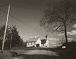 Scan of vintage print. Negative file #76-155. Country Church in Sullivan County, PA. 1976