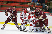 Tommy Cross (BC - 4), Eric Kroshus (Harvard - 10), Conor Morrison (Harvard - 38), Patrick Wey (BC - 6) - The Boston College Eagles defeated the Harvard University Crimson 3-2 on Wednesday, December 9, 2009, at Bright Hockey Center in Cambridge, Massachusetts.