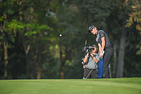 Chris Paisley (ENG) chips onto 18 during round 1 of the World Golf Championships, Mexico, Club De Golf Chapultepec, Mexico City, Mexico. 3/1/2018.<br /> Picture: Golffile | Ken Murray<br /> <br /> <br /> All photo usage must carry mandatory copyright credit (&copy; Golffile | Ken Murray)