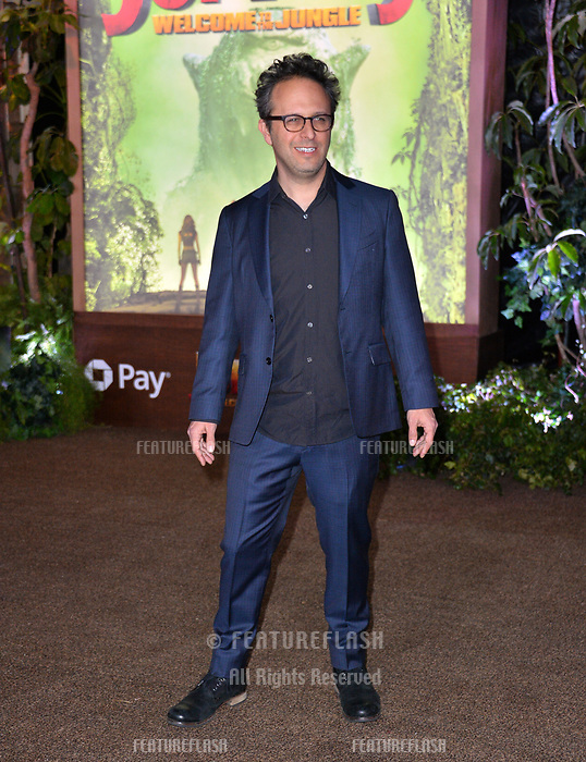 Jake Kasdan at the Los Angeles premiere of &quot;Jumanji: Welcome To the Jungle&quot; at the TCL Chinese Theatre, Hollywood, USA 11 Dec. 2017<br /> Picture: Paul Smith/Featureflash/SilverHub 0208 004 5359 sales@silverhubmedia.com