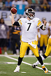 Pittsburgh Steelers quarterback Ben Roethlisberger (7) throws a pass during Super Bowl XLV against the Green Bay Packers on Sunday, February 6, 2011, in Arlingto, Texaas. The Packers won 31-25. (AP Photo/David Stluka)