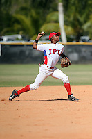 Elvis Zabala participates in the International Prospect League Showcase at the New York Yankees academy in Boca Chica, Dominican Republic on January 24, 2014 (Bill Mitchell)