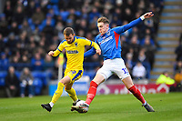 Ronan Curtis of Portsmouth right tackles Shane McLoughlin of AFC Wimbledon during Portsmouth vs AFC Wimbledon, Sky Bet EFL League 1 Football at Fratton Park on 11th January 2020