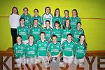 Cap 2368: SUCCESS: The Colaiste Na Sceilige First Year Girls Team who won the Munster 1st Year Blitz in Limerick. Front row l-r: Norma Moran, Bronagh OSullivan, Aisling OSullivan, Orla ODonovan, Sarah Kelly and Meghan OSullivan. Middle row l-r: Danni Sheehan, Ciara Fitzgerald, Shauna Murphy, Kerri Dowling, Mary Kelly and Lorna OSullivan. Back row l-r: Ber Lucey (Trainer), Meghan OConnell, Selena OConnell, Sharon Fitzgerald, Jenny OMahony, Karina Curran and Leann Curran.