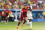 (L-R) Cristiano Ronaldo (POR), Kwadwo Asamoah (GHA), JUNE 26, 2014 - Football / Soccer : FIFA World Cup Brazil<br /> match between Portugal and Ghana at the Estadio Nacional in Brasilia, Brazil. (Photo by AFLO) [3604]