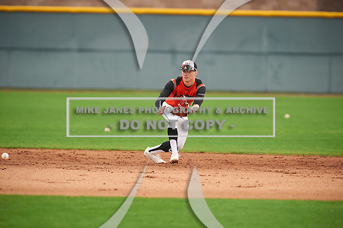 Zach Orn (1) of Eastside Jr/Sr High High School in Hamilton, Indiana during the Under Armour All-American Pre-Season Tournament presented by Baseball Factory on January 15, 2017 at Sloan Park in Mesa, Arizona.  (Zac Lucy/Mike Janes Photography)