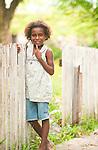 Shy, pretty girl, lobo Village, Papua