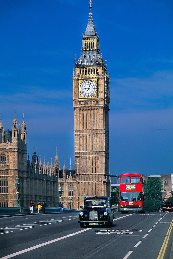 Westminster Bridge and Big Ben, London, England