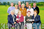 Christy O'Mahony, captain Beaufort Golf Course, pictured as he presented Teresa Clifford, with the Captains prize to the ladies and Irene McCarthy, lady captain, presented Joan O'Sullivan with the  Golfer of the Year prize at the course on Sunday evening. Other prizewinners pictured were Renee Clifford, Sally Cooper, Josephine O'Shea, Joe McMahon, Fred Kennedy, Rory Browne and Robin Suter.....PR SHOT..NO FEE............................................................................................
