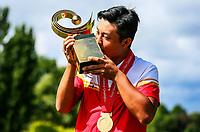 Yuxin Lin of China wns the Asia Pacific Amateur Golf Championship.  Royal Wellington Golf Course, Wellington, New Zealand, 29 October2017.  Photo: Simon Watts/www.bwmedia.co.nz