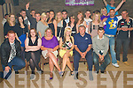 Emma Fuller from Lixnaw, seated centre having a ball with family and friends at her 21st birthday bash held in The Keg Bar, Causeway on Friday night. ............................................................................................................................................................................................................ ............