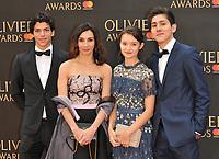 Tamara Rojo and guests at the Olivier Awards 2018, Royal Albert Hall, Kensington Gore, London, England, UK, on Sunday 08 April 2018.<br /> CAP/CAN<br /> &copy;CAN/Capital Pictures<br /> CAP/CAN<br /> &copy;CAN/Capital Pictures