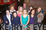 Enjoying her 21st birthday was Noelle Kirby(center) from Duagh, pictured here with family and friends last Saturday night in Murphy's Bar, Abbeyfeale, also pictured l-r: Noreen Collins, Noreen Collins, Ida Collins, Laura Gilbert, John Kirby, Noelle Kirby, Rachel Collins, Melissa Mangan, Elaine Foley.