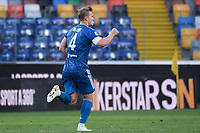 Matthijs De Ligt of Juventus celebrates after scoring a goal<br /> during the Serie A football match between Udinese Calcio and Juventus FC at Friuli stadium in Udine <br />  (Italy), July 23th, 2020. Play resumes behind closed doors following the outbreak of the coronavirus disease. Photo Federico Tardito / Insidefoto