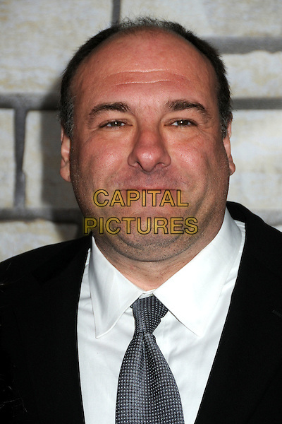 "JAMES GANDOLFINI .HBO Films' ""Cinema Verite"" Los Angeles Premiere held at Paramount Studios, Los Angeles, California, USA,.11th April 2011..portrait headshot black silver blue tie white shirt .CAP/ADM/BP.©Byron Purvis/AdMedia/Capital Pictures."