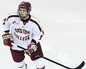 Travis Jeke (BC - 8) - The Boston College Eagles defeated the University of Vermont Catamounts 4-1 on Friday, February 1, 2013, at Kelley Rink in Conte Forum in Chestnut Hill, Massachusetts.