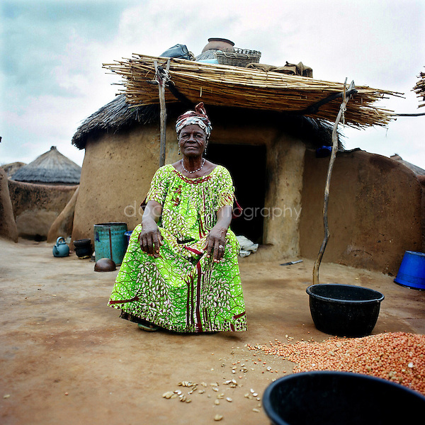 portrait of a woman in Africa.
