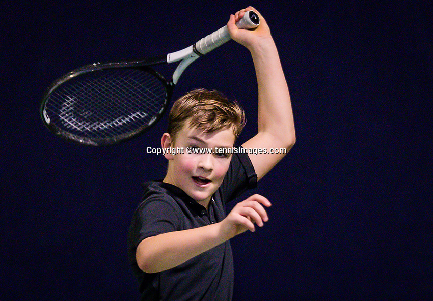 Hilversum, Netherlands, December 2, 2018, Winter Youth Circuit Masters, Ties de Regt (NED)<br /> Photo: Tennisimages/Henk Koster