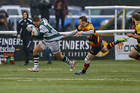 Match action during the Championship Cup match between Ealing Trailfinders and Richmond at Castle Bar , West Ealing , England  on 15 December 2018. Photo by David Horn.